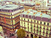 Historical Parisian buildings Stock Photography