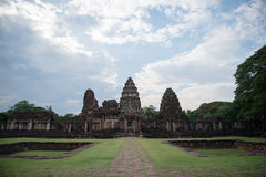 Historical Park Phimai. Protects one of the most important Khmer temples of Thailand. It is located in the town of Phimai, Nakhon Ratchasima province. The temple royalty free stock image