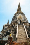 Historical Park, Phra Nakhon Si Ayutthaya, Thailand.  Stock Photo