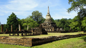 Historical Park Wat chang lom temple landscape Royalty Free Stock Image