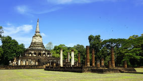 Historical Park Wat chang lom temple landscape with trees sukhot Stock Image