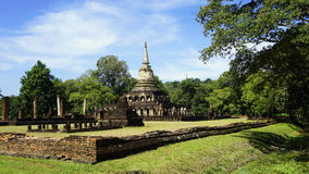 Historical Park Wat chang lom temple landscape with trees Stock Images