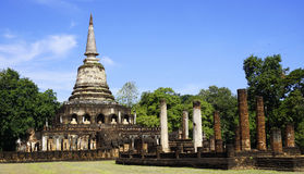 Historical Park Wat chang lom temple overall perspective Sukhoth Royalty Free Stock Photos