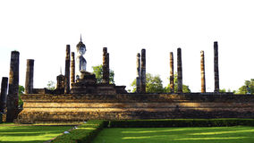 Historical Park Wat Mahathat temple bhudda elevation Royalty Free Stock Photo