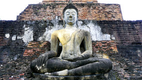 Historical Park Wat Mahathat temple bhudda statue horizontal Stock Photography