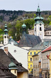 The historical part of Banska Stiavnica Stock Photos