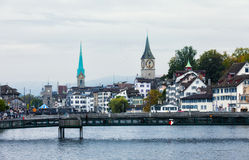Historical part of the city. Zurich Stock Image