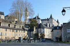 Historical part of the French city Pau Royalty Free Stock Photography