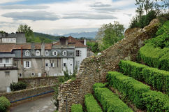 Historical part of the French city Pau Royalty Free Stock Photos