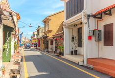 Historical part of the old Malaysian town in Malacca, Malaysia Royalty Free Stock Images