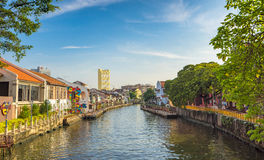 Historical part of the old Malaysian town in Malacca Stock Photography