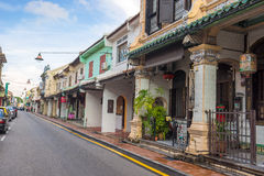 Historical part of the old Malaysian town in Malacca Royalty Free Stock Images