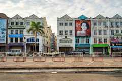 Historical part of the old Malaysian town in Malacca Stock Images