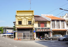 Historical part of the old Malaysian town Stock Images