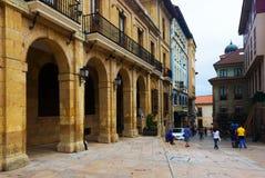 Historical part of Oviedo. Asturias, Spain Stock Photos