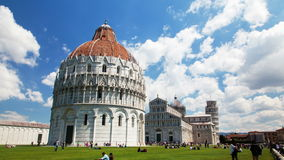 The historical part of Pisa, Italy time-lapse. The historical part of Pisa, Italy time lapse 4k stock footage