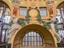 Historical part of Prague Main Railway Station Stock Photos