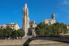 The historical part of the Spanish city of Gerona Stock Images