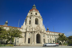 Historical Pasadena city hall in morning Stock Image
