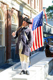 Historical Patriot Reenactor, Boston, USA Stock Photo
