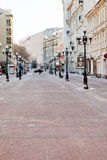 Historical pedestrian Arbat street in Moscow Stock Photo