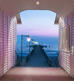 Historical pier in Binz on island Rugen, Germany Royalty Free Stock Photo
