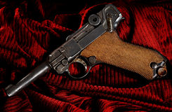 Historical Pistol. Historical german Luger Pistol used in World War Royalty Free Stock Images