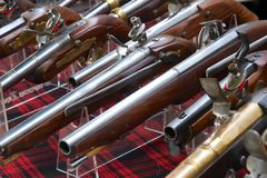 Historical Pistols Royalty Free Stock Photos