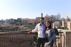 Tourists at Rome Italy royalty free stock image