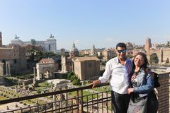 Tourists at Rome Italy stock image