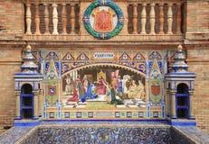 The historical Plaza de Espana Seville, Andalusia, Spain. Royalty Free Stock Photos