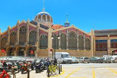 Historical point of Valencia - Modernist Mercat Central market,. Valencia, Spain - June 13, 2017 : Historical point of Valencia - Modernist Mercat Central market Stock Photography