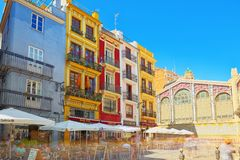 Historical point of Valencia - Modernist Mercat Central market,. Valencia, Spain - June 13, 2017 : Historical point of Valencia - Modernist Mercat Central market Royalty Free Stock Image