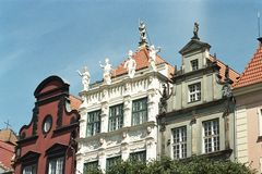 Historical Polish buildings Stock Images