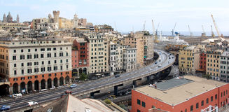 Historical port city Genoa in North-Italy Royalty Free Stock Images