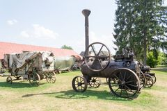 Historical portable agricultural steam engine Royalty Free Stock Photography