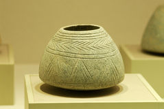 Historical pot. An ancient pot displayed in sharjah archaeological museum Stock Photography