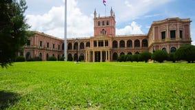 Historical presidential and governmental Palacio de los Lopez in Asuncion stock footage