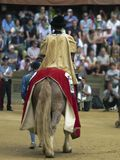 The Historical Procession Pali. Before the race of horses in  siena , there is an historical procession where each contrada produce a great show Royalty Free Stock Images