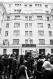 Historical protests in Algeria for changement royalty free stock photography