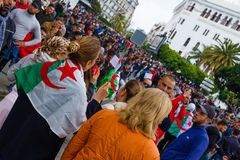 Historical protests in Algeria for changement royalty free stock image