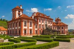 Historical public building of Troja castle, Prague, Czech Republic Royalty Free Stock Images
