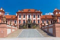 Historical public building of Troja castle, Prague, Czech Republic Royalty Free Stock Photo