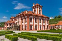Historical public building of Troja castle, Prague, Czech Republic Stock Photo