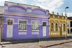 Historical Purple House in Laguna Brazil Royalty Free Stock Photos