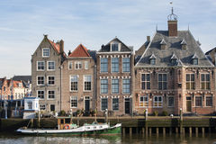 Historical quayside of Maassluis. in the Netherlands Stock Image