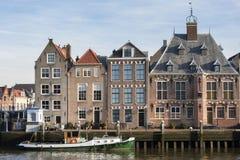 Historical quayside of Maassluis Stock Image
