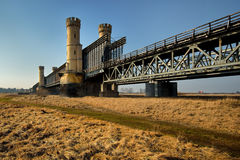 Historical railway bridge over the river Vistula, Stock Photos