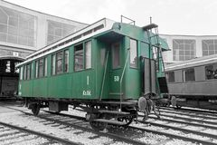 Historical railway passanger car Royalty Free Stock Photography