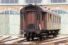 Historical railway passanger car Stock Images